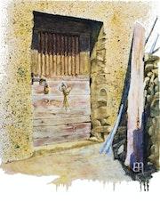 Ascu :Village de montagne. Corse.