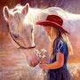 Amour entre une fille et un cheval. Monique Verstraete