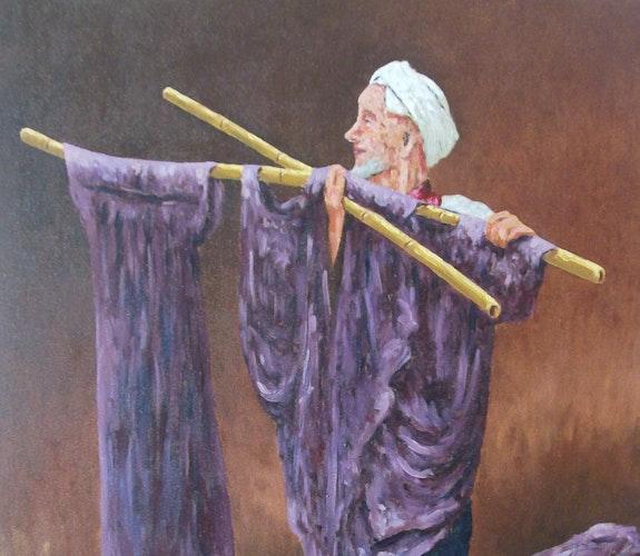 Teinturier à Marrakech (détail).  Elalaoui