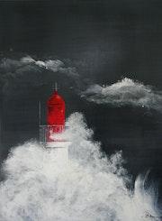 Le phare rouge des sables d'olonne.