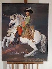 Louis XIV à cheval.