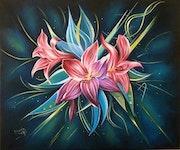 Fleurs lys. Mounia Chaffai