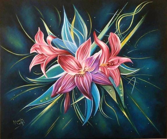 Fleurs lys. Chaffai Mounia Mounia Chaffai