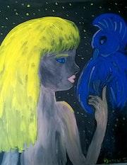 L'enfant sauvage et l'oiseau bleu.