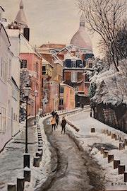 Rue de l Abreuvoir Montmart Paris.