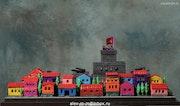 Grey Citadel, plasticine, cardboard, 70x50x25 cm. Alexey Mikulin