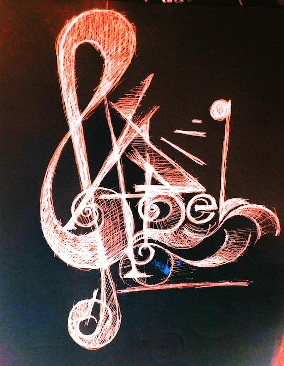 Emprunte visuelle, logo pour asso musicale. Jean-Baptiste Luraine Savoir Être Heureux En Ce Monde Ci