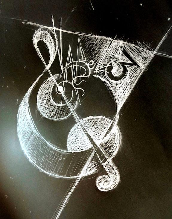 Étude logo 3 pour asso musicale. Jean-Baptiste Luraine Savoir Être Heureux En Ce Monde Ci