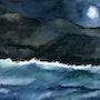 Nuit de tempête sur le lac. Guy Jay