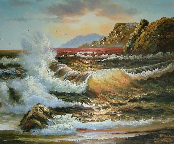 La fuerza de los elementos del mar. +Damien Golden Century Europe