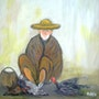 Vendeur de volaille vivante. Abdelelah Rafiq
