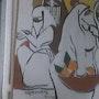 Femmes voilées revenant du marché. Fatma Ikerrouiene