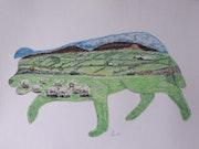 «Chien de berger écossais». Le Paon Du Jour