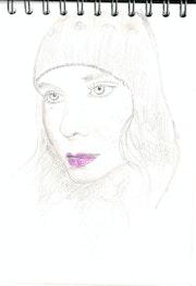 Jeune femme au bonnet. Patrick Nevoso
