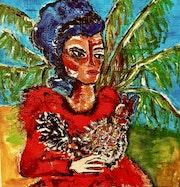 La femme au coq. Dominique Virgili-Walch