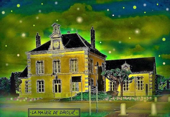 La mairie de Droué. G. Ardelâme G; Ardelâme