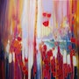 Large original Oil Painting - Distant Memory - a semi abstract landscape.