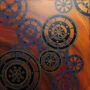 Modern painting : Gears.. Jonathan Pradillon