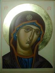 Icône byzantine Mère de Dieu. Laetitia Will