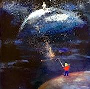 Le petit Prince et les étoiles.