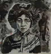 Une jeune fille tibetaine en 1934. Zongnan Wang