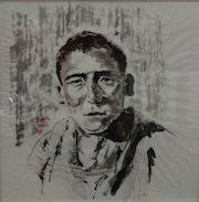 Un jeune moine bouddhiste tibetain en 1934. Zongnan Wang
