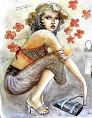 Fashion board, planche tendance de mode. Pascale De Saint-Péron