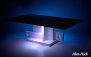 Table basse moderne Ofeline 20 led sans fil.