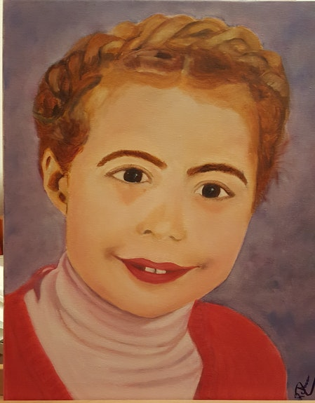 Portrait d'une enfant de 8 ans. Nicole Retureau