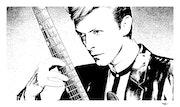 Retrato David Bowie. Grafoart