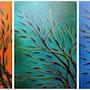 Série de peintures : Végétations colorées.. Jonathan Pradillon