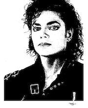 Retrato Michael Jackson. Grafoart