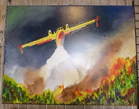 Le sauveur des incendies du sud de la France. Pk Pierrette Kuhn