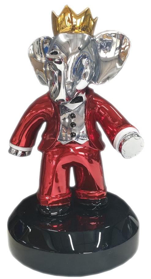 Babolex Classic Red With Black Pedestal 60 cm. Vincent Faudemer Vincent Faudemer