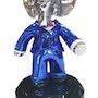 Babolex Classic Blue With Black pedestal 60 cm. Vincent Faudemer