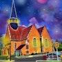L'église de Boursay. G; Ardelâme