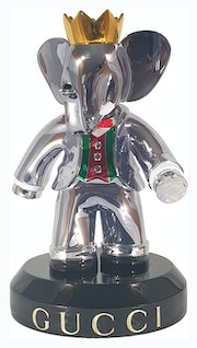 Babolex Gucci Chrome With Black Pedestal 60 cm. Vincent Faudemer