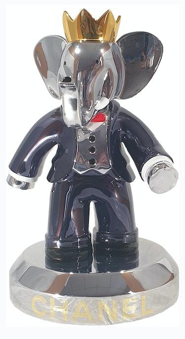 Babolex Chanel Noir Socle Titane 60 cm. Vincent Faudemer