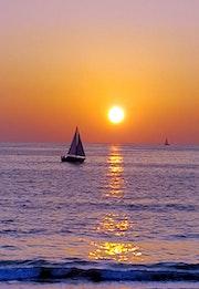 Coucher de soleil sur CapBreton.