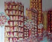 Civilisation… Thème urbain. Anne Sophie Artiste Peintre Nantes
