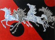 Galloping Horses 71 Horse series. Debabrata Biswas
