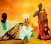 Musiciens africains.