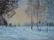 Neige en Savoie, ombres et lumières sur la neige.