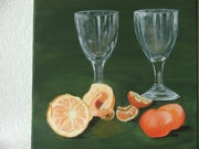 Nature morte aux oranges et mandarines. Maguy Mathieu