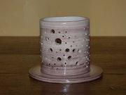 Chocolate tealight holder, white earthenware.