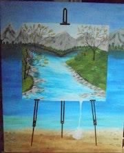 Tableau dans un tableau. Isabelle Dhondt