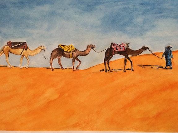 In the desert. Saule Abdramanova Saule Abdramanova
