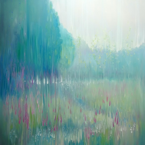 Large original Oil Painting - Ageless Meadow - a Sussex field in June. Gill Bustamante Gill Bustamante - Artist