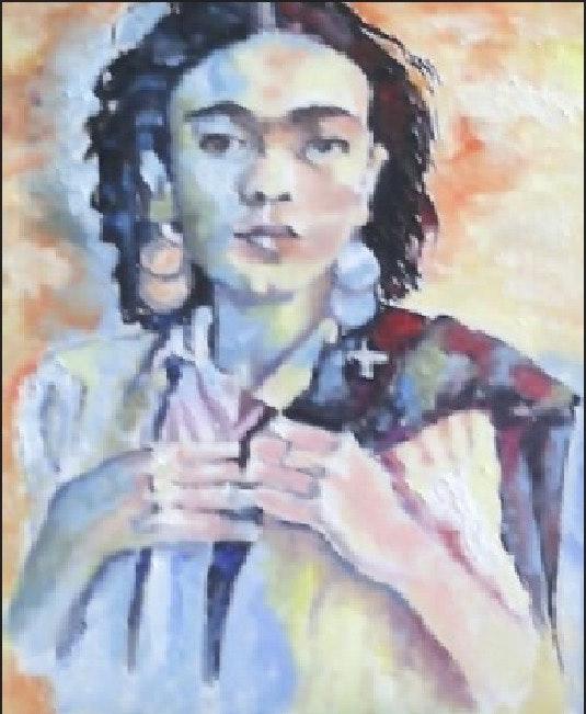 Série «Portraits de Femmes» - Frida Khalo. Veroniq's Véroniq' S