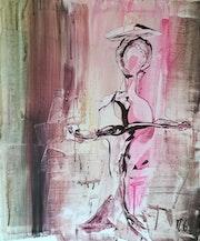 Femme en rose / Pink Lady. Michèle Guillot